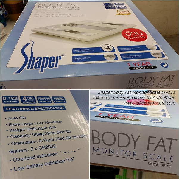 Shaper Body Fat Monitor Scale EF-111