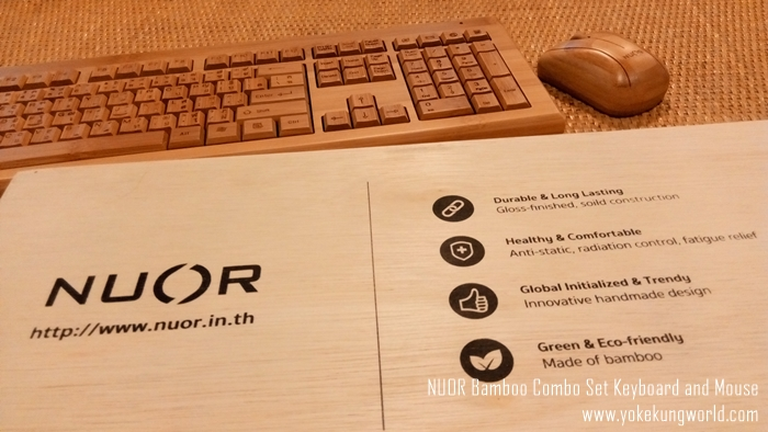 NUOR Bamboo Combo Set Keyboard and Mouse - thaiware - 01