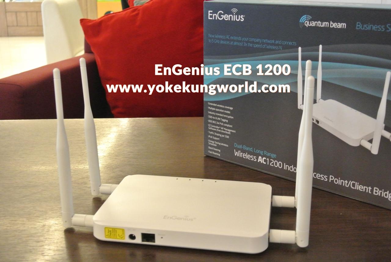 EnGenius ECB1200 เลือก Accss Point แบบ Dual-Band 11ac อัพเกรด Wi-Fi สำหรับเน็ตบ้านความเร็วสูงมาก!!